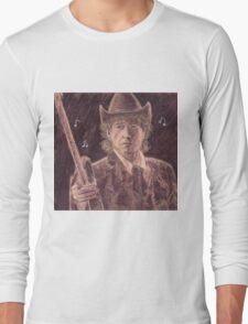 BOB DYLAN WITH GUITAR Long Sleeve T-Shirt