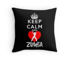 KEEP CALM AND LOVE ZUMBA Throw Pillow