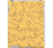 Kitty playing on yellow iPad Case/Skin