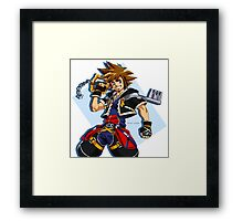 Sora and the Kingdom Key Framed Print