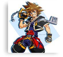 Sora and the Kingdom Key Metal Print