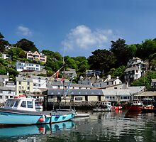 Polperro from Sea Level by rodsfotos