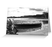 Boat on the Deben, Suffolk Greeting Card