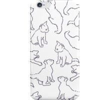 Kitty playing on white iPhone Case/Skin