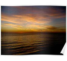 Sunset on Lake Huron- Kincardine Poster