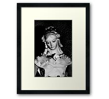 Antique replica Victorian Mannekin Bisque doll Framed Print