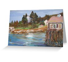 SUMMER HOUSE ON STILTS Greeting Card
