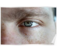 Freckles and a hazel eye Poster