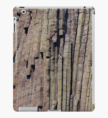 Climbers on Devils Tower iPad Case/Skin