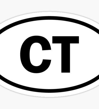 Connecticut - CT - oval sticker Sticker
