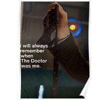 I will always remember when the doctor was me Poster