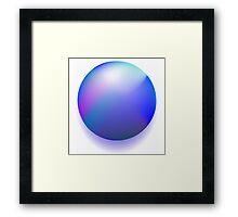Blue magic ball Framed Print