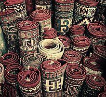 Carpet Shop - Deira Souk, Saudi Arabia by Karen Field