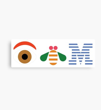 IBM Eye Bee M logo Canvas Print