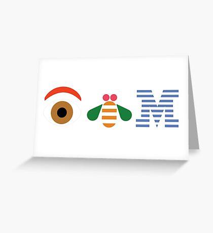IBM Eye Bee M logo Greeting Card