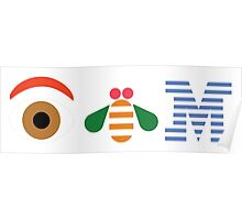 IBM Eye Bee M logo Poster