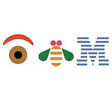 IBM Eye Bee M logo Photographic Print