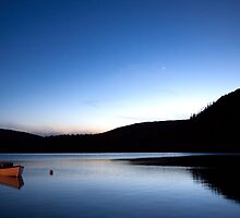 Mercury Adorns Blue Lake by Brian Carey