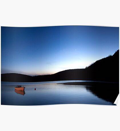 Mercury Adorns Blue Lake Poster