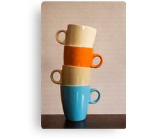Coffee Cups Canvas Print