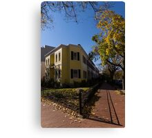 Washington, DC Facades – Sharp Autumn Shadows in Foggy Bottom Neighborhood Canvas Print