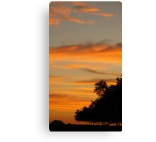 Sunset sky and trees in silhouette Canvas Print