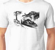 Paddle Steamer Black Unisex T-Shirt