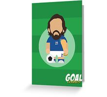 Andrea Pirlo Greeting Card