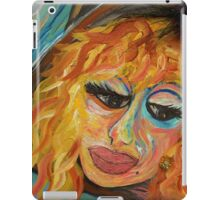 Fashionista in Coral and Blue iPad Case/Skin