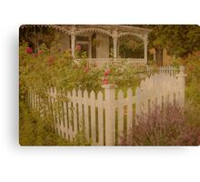 House with the white picket fence # 2 Canvas Print