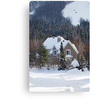 Skiing in the Countryside Canvas Print