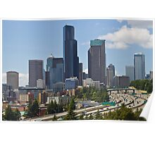 Downtown Seattle from Jose Rizal Bridge Poster
