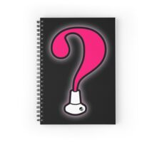 Question Mark Baton Twirling Design Spiral Notebook