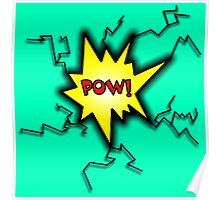 POW Caption Cushion Cover Poster