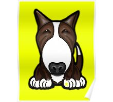 Brown Patch English Bull Terrier Poster
