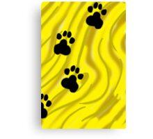 Yellow Paws Canvas Print