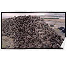 Hand-Cut Peat Fuel - Donegal Poster