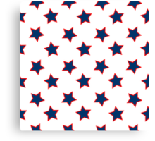 american flag stars background Canvas Print