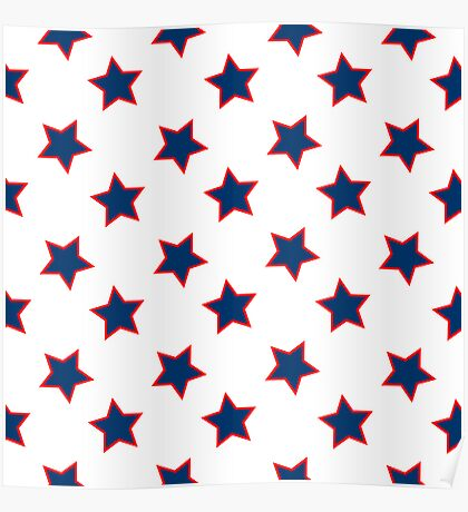 american flag stars background Poster