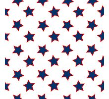 american flag stars background Photographic Print