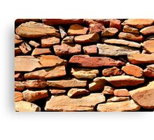 Well placed stonework Canvas Print