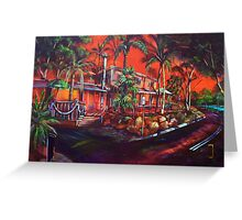 The Tree Bar Sunset 1770 Greeting Card