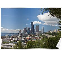 Downtown Seattle from Jose Rizal Park Poster