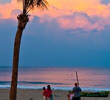 Sunset at Long Branch by zxuphoto