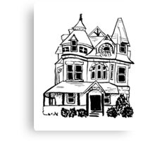 Grand Old Victorian House Canvas Print