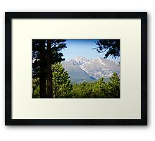 Sneak Peak to the Mountain Framed Print