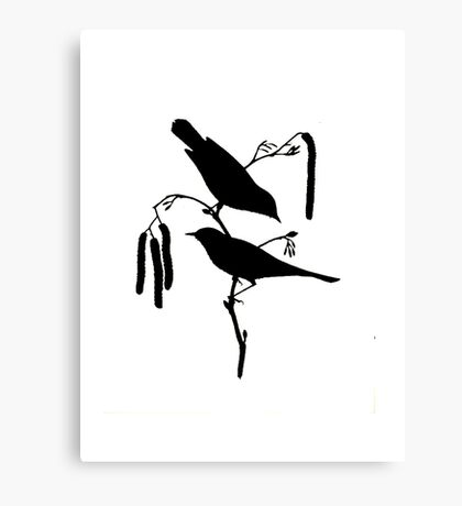 Warbler Brush Canvas Print
