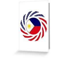 Filipino American Multinational Patriot Flag Series 1.0 Greeting Card