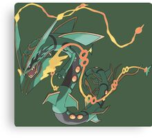 pokemon rayquaze anime manga shirt Canvas Print