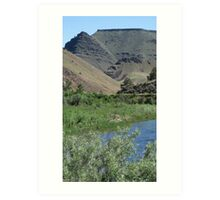 A Rock biter is hiding out in Picture Gorge, -. Oregon Art Print